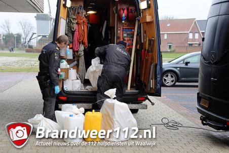 Brand in woning door drugslab aan de Cornelis Verhoevenstraat Waalwijk