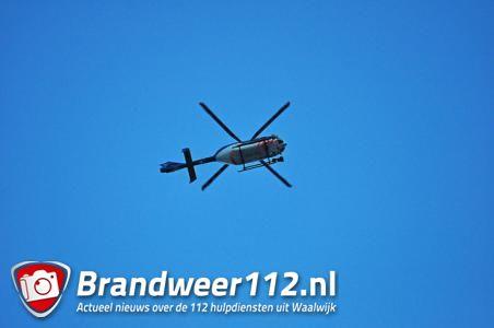 UPDATE: Politiehelikopter cirkelt boven Waalwijk