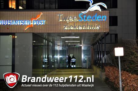 Brandweer rukt uit voor vreemde lucht in ziekenhuis aan de Kasteellaan Waalwijk
