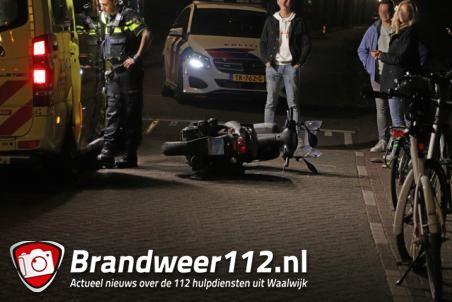 Scooterrijder gewond na val aan het Meerdijk Waalwijk