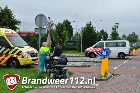 Man valt uit scootmobiel aan de Villa Spaanse Ruiter Waalwijk