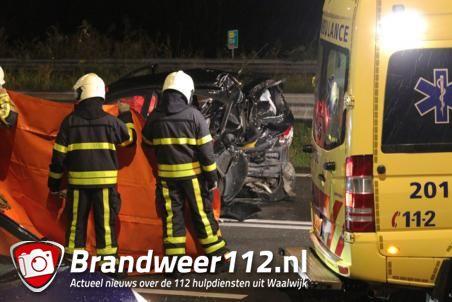 Vrouw overleden na ongeval op de Midden-Brabantweg Waalwijk