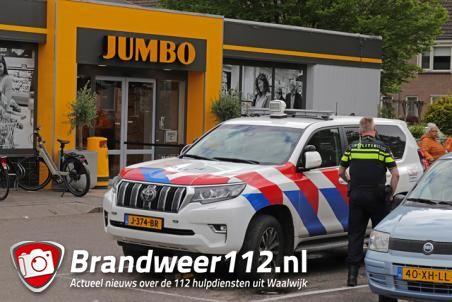 Vechtpartij in supermarkt Jumbo aan de Grotestraat Waalwijk