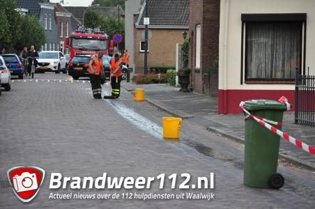 Brandweer en politie rukken uit voor oliespoor in Waalwijk