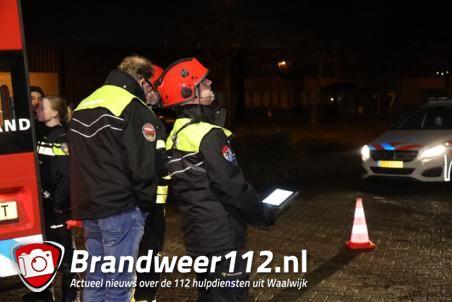 Politie zoekt met drone naar mogelijk drugslab in Waalwijk