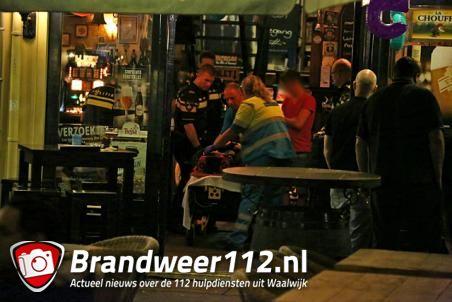 Vrouw valt van trap in café aan de Markt Waalwijk