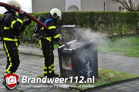 Brand in ondergrondse container aan de Noordstraat Waalwijk