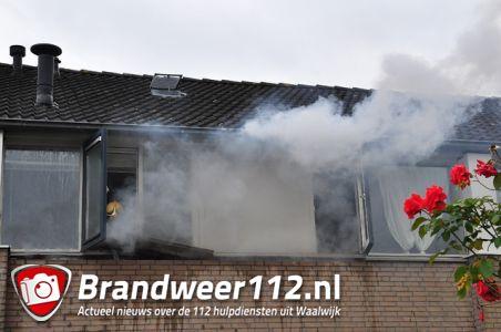 Woningbrand aan de Hugo Wolfstraat Waalwijk