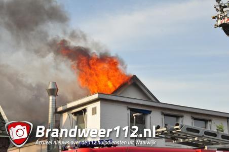 Zeer grote brand bij Asya Bakkerij in Waalwijk