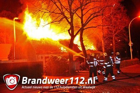 Bericht update: Café-restaurant Het Galgenwiel verwoest door brand aan de Burg. Smeelelaan Waalwijk