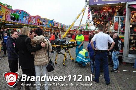 Omstander reanimeert man op kermisterrein op het Unnaplein Waalwijk