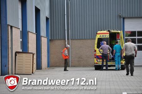Man gewond na val van trap aan de Industrieweg Waalwijk