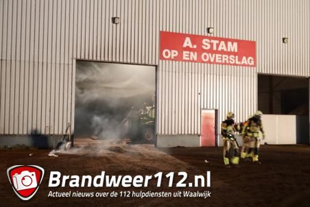 Weer broei bij cacao-opslag A.Stam aan de Vijzelweg Waalwijk