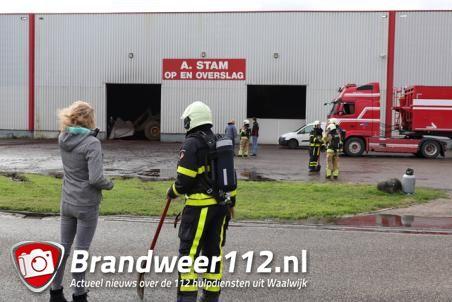 Broei bij cacao-opslag A.Stam aan de Vijzelweg Waalwijk