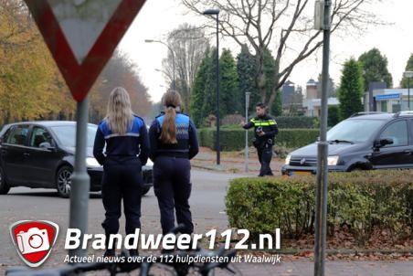 Politiecontrole met lasergun aan de Akkerlaan Waalwijk