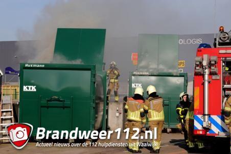 Container in brand aan de Weteringweg Waalwijk