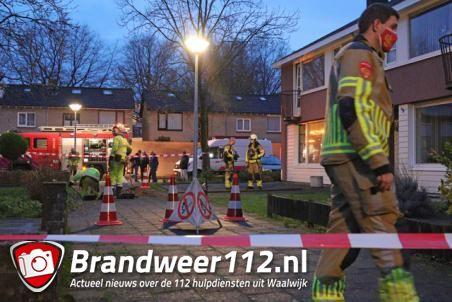 Twee woningen ontruimd door gaslek aan de van Vessemstraat Waalwijk