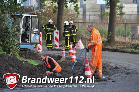 Wegwerkers veroorzaken gaslek: straat in Waalwijk volledig afgesloten