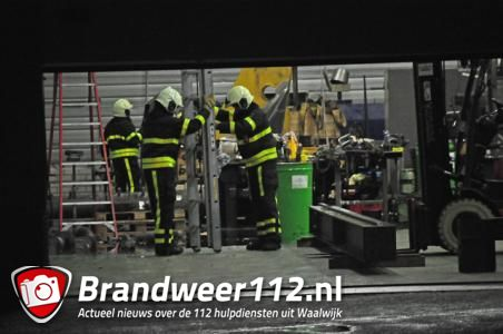 Wateroverlast in bedrijf aan de Duikerweg Waalwijk