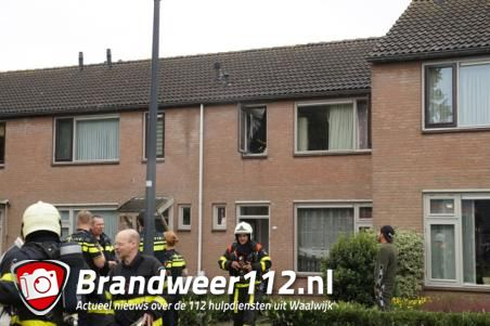 Brand in douche van Waalwijkse woning