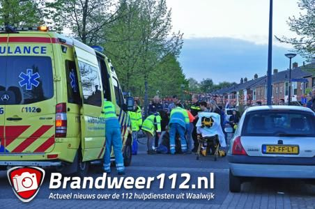 Vrouw komt hard ten val en verliest veel bloed aan de Orteliuslaan Waalwijk