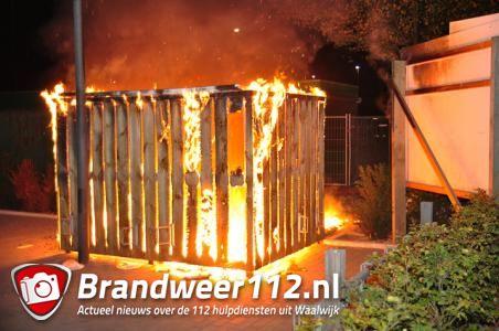 Opslaghok gaat in vlammen op aan de Meester van Coothstraat Waalwijk