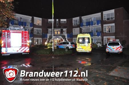 Hulpdiensten rukken uit naar Rembrandtpark in Waalwijk