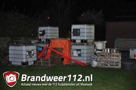 Grondstoffen voor drugslab gevonden aan de Winterdijk Waalwijk