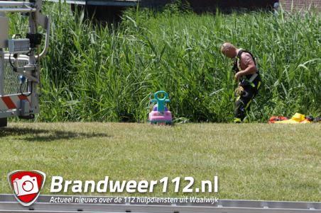 Grote inzet hulpdiensten aan de Burg. Smeelelaan in Waalwijk