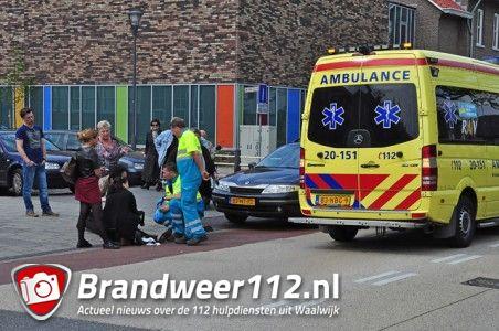 Vrouw valt van fiets aan de Wilhelminastraat Waalwijk