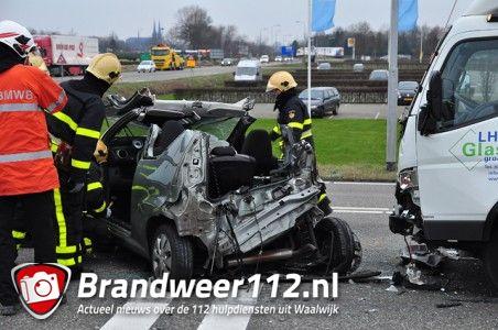 Ongeval met beknelling op de Midden-Brabantweg Waalwijk