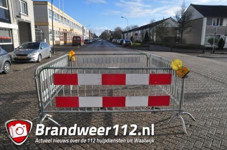 Beginnende sinkhole aan de Grotestraat Waalwijk