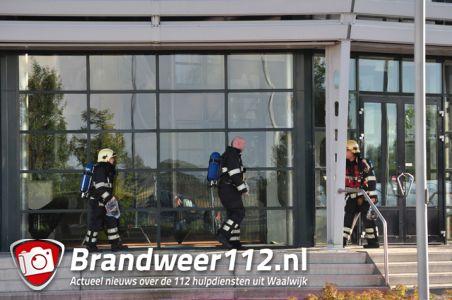Brandweer rukt uit voor brandalarm aan de Taxandriaweg Waalwijk