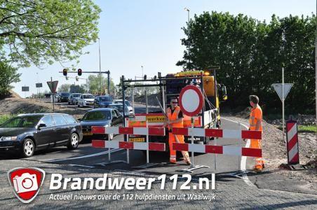 Deel bericht: Tijdelijke kruising afgesloten op de Midden-Brabantweg Waalwijk