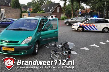 Fietser gewond na aanrijding met auto in Waalwijk