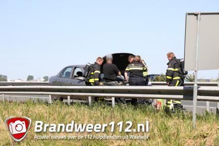 Autobrand op de A59 (Maasroute) Waalwijk