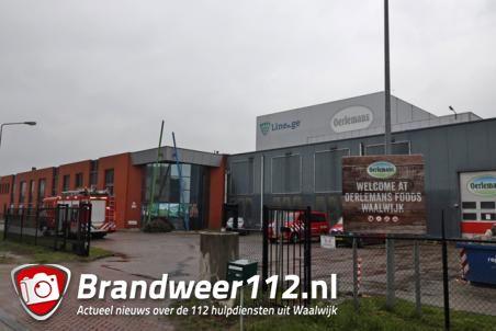 Brandweer rukt uit voor een lek bij bedrijf aan de Zijlweg Waalwijk