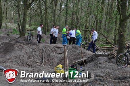 Mountainbiker gewond aan de Vijverlaan Waalwijk