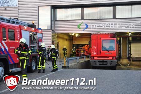 Bedrijf Waalwijk ontruimd vanwege brandje in afzuiginstallatie
