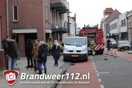 Flat ontruimd vanwege gaslek aan de Grotestraat Waalwijk