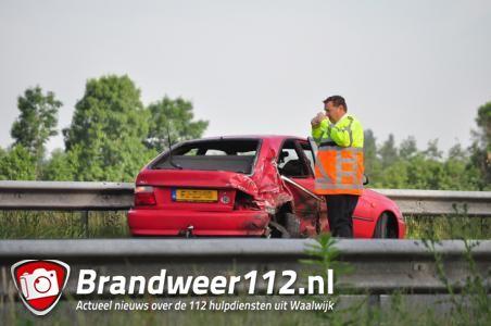 Geen gewonden bij ongeluk op Midden-Brabantweg Waalwijk