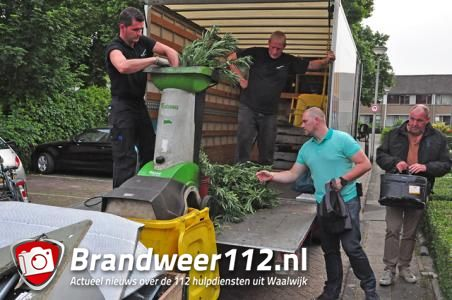Schietpartij in Waalwijk leidt politie naar hennepkwekerij