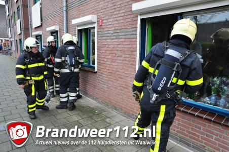 Veel rook in keuken aan de Margrietstraat Waalwijk