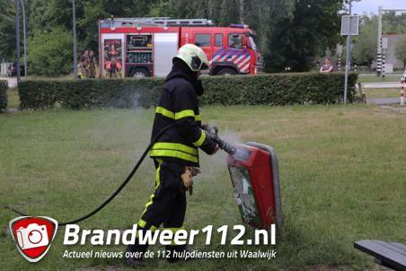 Prullenbakje in brand aan de Drunenseweg Waalwijk