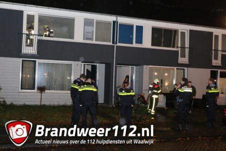 Woning hangt vol met rook aan De Jonghestraat Waalwijk