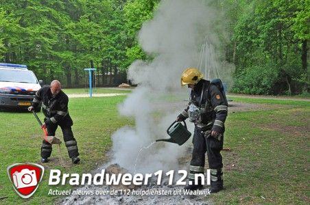 Buitenbrand aan het Hoefsvenlaan Waalwijk