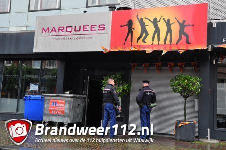 Marquees in Waalwijk voorlopig nog niet open