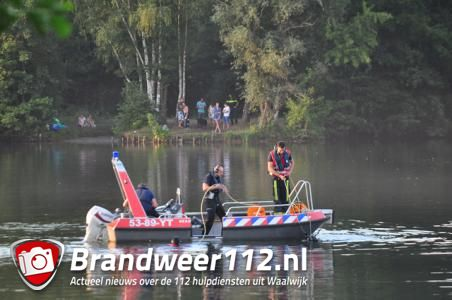 Drenkeling vermoedelijk overleden, zoektocht in waterplas Waalwijk gestaakt