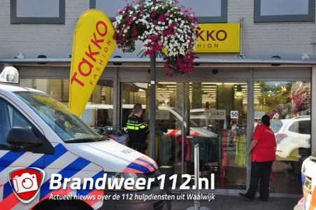 Man met Duits accent overvalt kledingwinkel Takko Fashion in Waalwijk