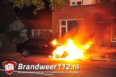 Weer een autobrand in Waalwijk